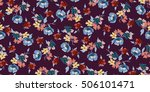trendy seamless floral pattern... | Shutterstock .eps vector #506101471