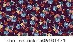 trendy seamless floral pattern... | Shutterstock .eps vector #506101471