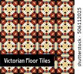 victorian era floor tiles | Shutterstock .eps vector #506112025