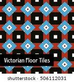 victorian era floor tiles | Shutterstock .eps vector #506112031