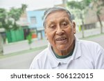 happy old latin man | Shutterstock . vector #506122015