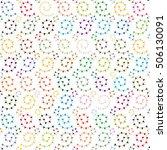geometric seamless vector... | Shutterstock .eps vector #506130091
