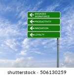road sign with  words engaged... | Shutterstock . vector #506130259