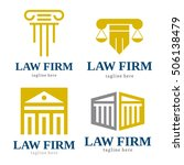 law firm judge logo icon... | Shutterstock .eps vector #506138479