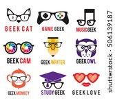 geek logo icon template set   Shutterstock .eps vector #506139187