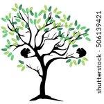 vector illustration of a tree... | Shutterstock .eps vector #506139421