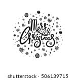 merry christmas lettering design | Shutterstock .eps vector #506139715