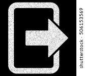 exit door grainy textured icon... | Shutterstock .eps vector #506153569