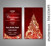 set of stylized christmas tree...   Shutterstock .eps vector #506153695