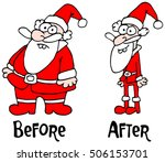 santa claus before after | Shutterstock .eps vector #506153701