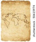 vector illustration of worldmap ... | Shutterstock .eps vector #50615974