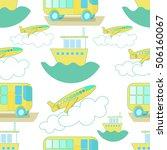 seamless pattern transport bus  ... | Shutterstock .eps vector #506160067