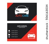 Auto Car business card design template for your business - stock vector