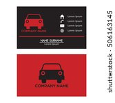 auto car business card design... | Shutterstock .eps vector #506163145