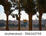 view of jerusalem with al aqsa... | Shutterstock . vector #506163745