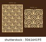 laser cutting set. woodcut...   Shutterstock .eps vector #506164195