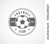 football emblem line icon on... | Shutterstock .eps vector #506168665