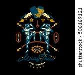 muay thai club vintage emblem ...   Shutterstock .eps vector #506169121