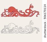 octopus tentacles | Shutterstock .eps vector #506170114