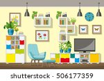 illustration of interior... | Shutterstock .eps vector #506177359