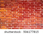 red brick wall background... | Shutterstock . vector #506177815