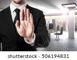 businessman in modern office... | Shutterstock . vector #506194831