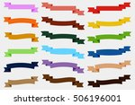 set of  colorful empty ribbons... | Shutterstock . vector #506196001