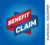 benefit claim arrow tag sign. | Shutterstock .eps vector #506200969
