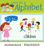 flashcard alphabet c is for... | Shutterstock .eps vector #506202025