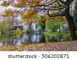 beautifull scenery in autumn... | Shutterstock . vector #506202871