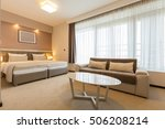 modern spacious hotel room   | Shutterstock . vector #506208214