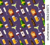 seamless pattern with drinks ...   Shutterstock .eps vector #506210071