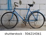 old blue bicycle | Shutterstock . vector #506214361
