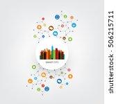 colorful smart city design...   Shutterstock .eps vector #506215711