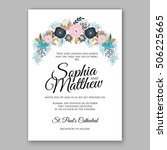 wedding invitation or card with ... | Shutterstock .eps vector #506225665