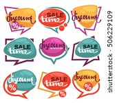 sale time  vector collection of ... | Shutterstock .eps vector #506229109