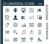 set of 25 universal editable... | Shutterstock .eps vector #506229235