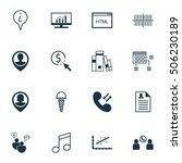 set of 16 universal editable... | Shutterstock .eps vector #506230189