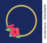 Marine Rope With Hibiscus...
