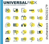 set of 25 universal editable... | Shutterstock .eps vector #506231179