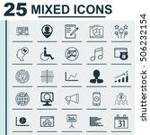 set of 25 universal editable... | Shutterstock .eps vector #506232154