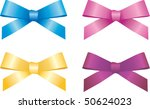 Silk Package Colorful Vector Bow