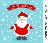 cute santa claus on winter... | Shutterstock .eps vector #506247244