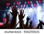stage lights  concert ... | Shutterstock . vector #506250631