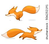 cartoon red fox character ... | Shutterstock .eps vector #506252191
