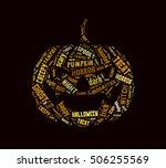 halloween pumpkin word cloud | Shutterstock . vector #506255569
