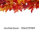 autumn time background  some... | Shutterstock . vector #506255989