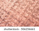 woven mat of bamboo is used for ... | Shutterstock . vector #506256661