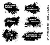 set of black ink vector grunge... | Shutterstock .eps vector #506265289