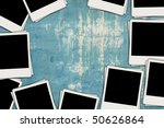 blank photos on shabby wall | Shutterstock . vector #50626864
